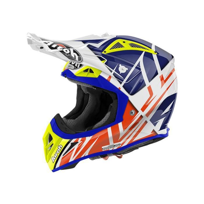 casque motocross airoh 2016 aviator 2 2 styling gloss bleu achat vente casque moto scooter. Black Bedroom Furniture Sets. Home Design Ideas