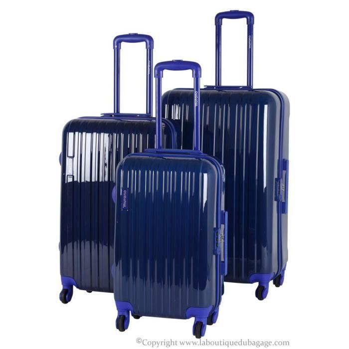 murano set de 3 valises rigides cue marine achat vente set de valises murano set de 3. Black Bedroom Furniture Sets. Home Design Ideas