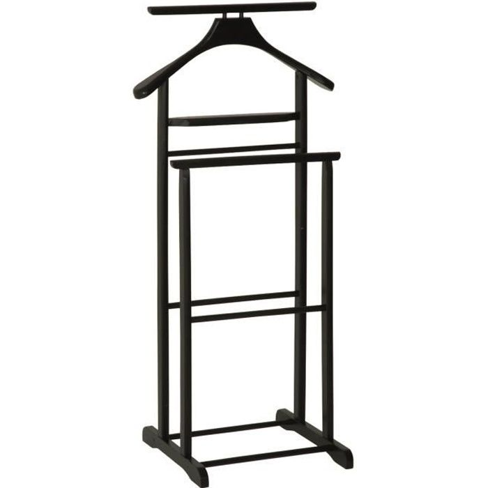 valet de nuit en bois massif couleur noir dim achat. Black Bedroom Furniture Sets. Home Design Ideas