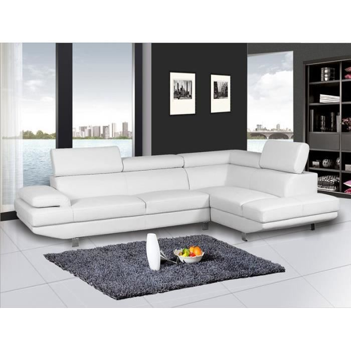 Dimensions 285x190x80 cm caract ristiques c achat for Nettoyage canape cuir blanc