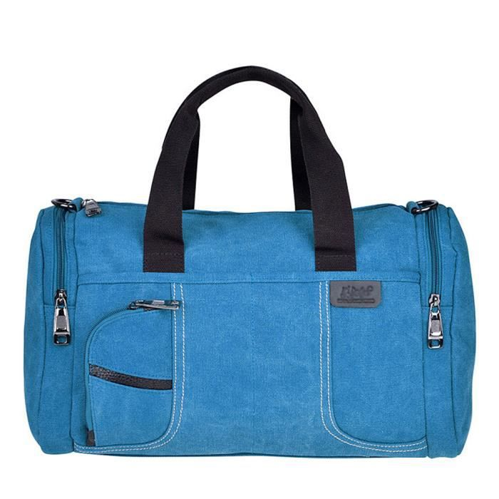 sacs de voyage bagage main de weekend sac bleu bleu achat vente sac de voyage. Black Bedroom Furniture Sets. Home Design Ideas