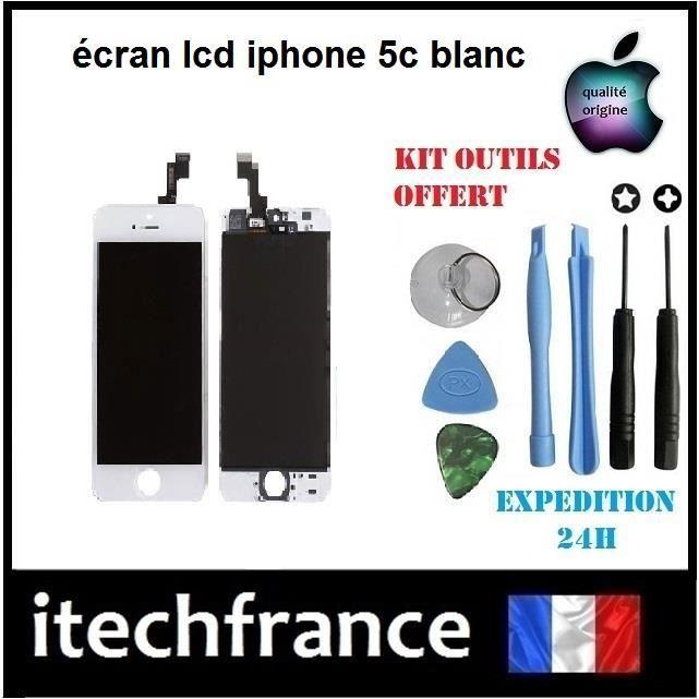 cran lcd iphone 5c blanc achat ecran de t l phone pas cher avis et meilleur prix les. Black Bedroom Furniture Sets. Home Design Ideas