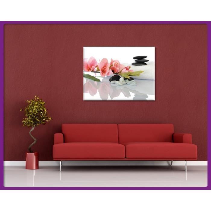 Bilderdepot24 impression sur toile zen cailloux 50x40 for Achat cailloux decoration