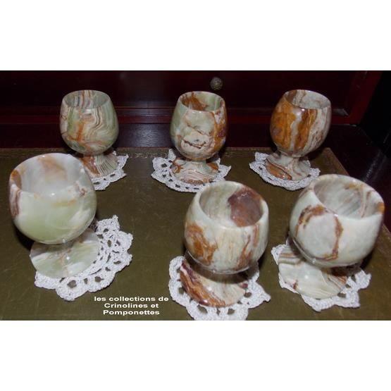 Verres a liqueur en onyx les 6 sous verres achat vente for Art de la table verre