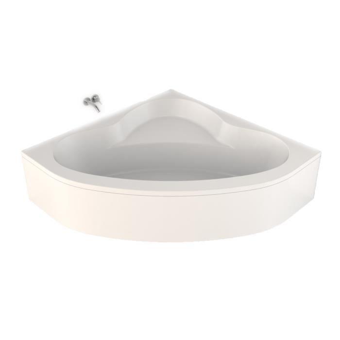 baignoire d 39 angle 135 x 135 cm easy bath sans achat. Black Bedroom Furniture Sets. Home Design Ideas