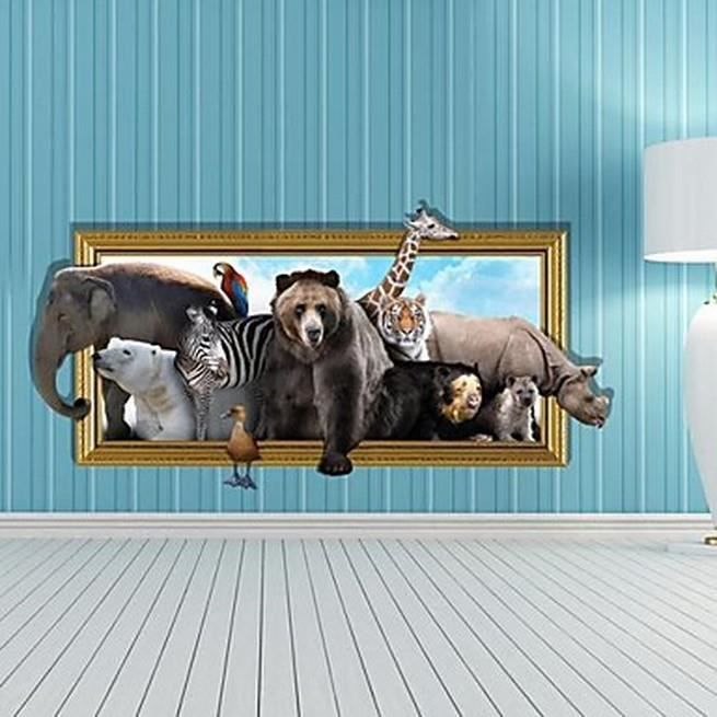 Affiche Murale 3D Animaux Sauvages