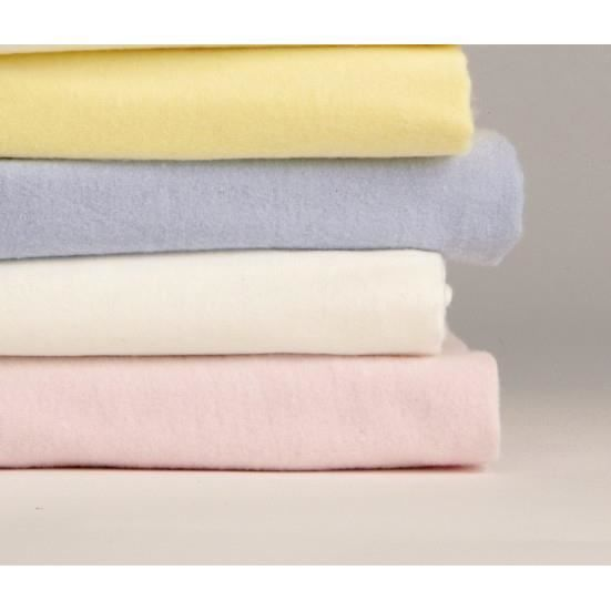 Flanelle drap housse 120x190 vanille achat vente drap for Drap housse en flanelle