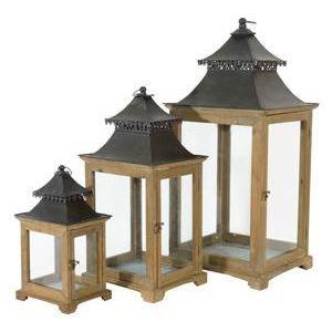 Set lanterne kenia achat vente lampion set lanterne for Lanterne japonaise de jardin pas cher