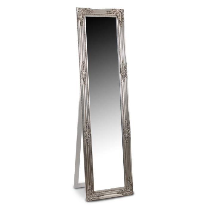 Miroir argent resine 164x44 cm achat vente miroir for Miroir argente