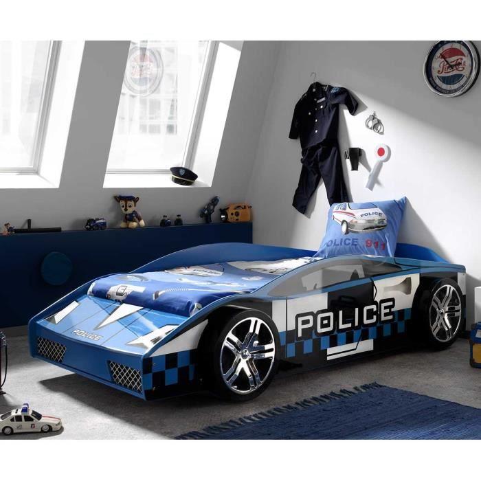 paris prix lit enfant voiture police bleu achat vente structure de lit paris prix lit. Black Bedroom Furniture Sets. Home Design Ideas