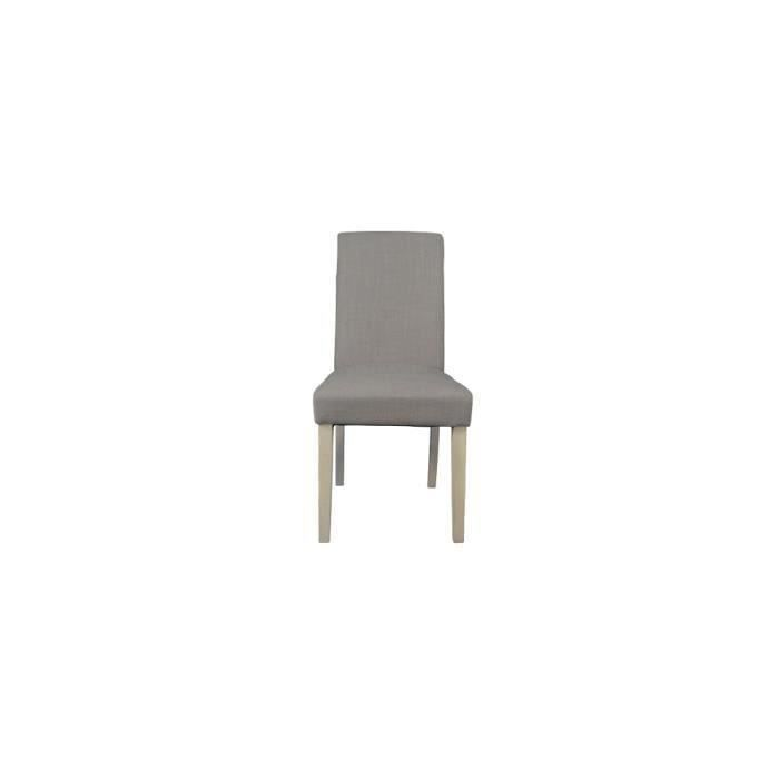 Chaise havane lin taupe lot de 2 achat vente chaise - Chaise lot de 6 ...
