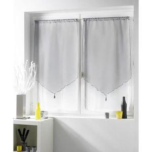 rideaux 70x120 achat vente rideaux 70x120 pas cher soldes cdiscount. Black Bedroom Furniture Sets. Home Design Ideas
