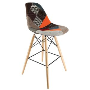 CHAISE Chaise Privee® - Tabouret DSW - (Patchwork - Natur