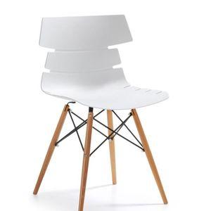 Chaise pulmak bois blanc achat vente chaise bois for Soldes chaises bois