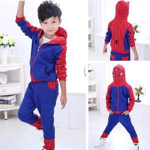 SURVÊTEMENT DE SPORT Asiatique Taille 2015 Hot Garçons Spider Man Vêtem