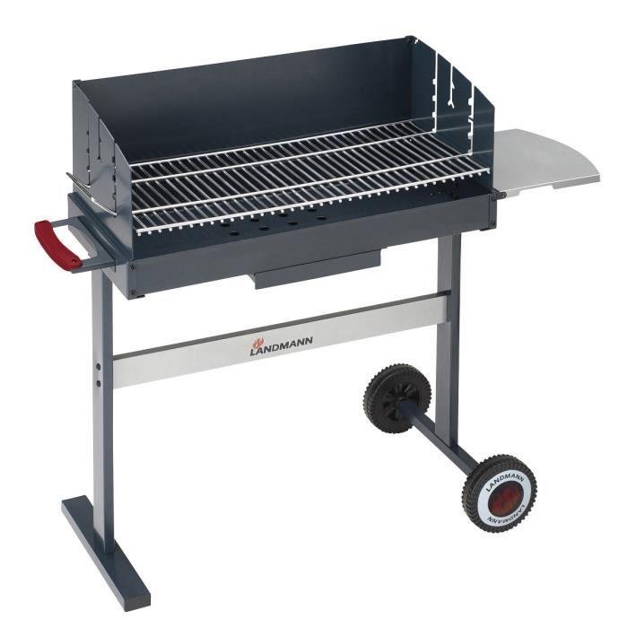 Landmann barbecue charbon compact 700 acier maill gris achat vent - Barbecue landmann charbon ...