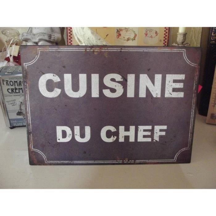 plaque cuisine du chef achat vente objet d coration murale soldes cdiscount. Black Bedroom Furniture Sets. Home Design Ideas