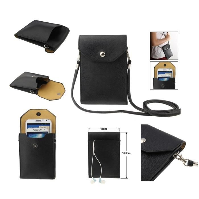 Sac tui housse pour tablettes et smartphone avec poche en for Housse tablette qilive