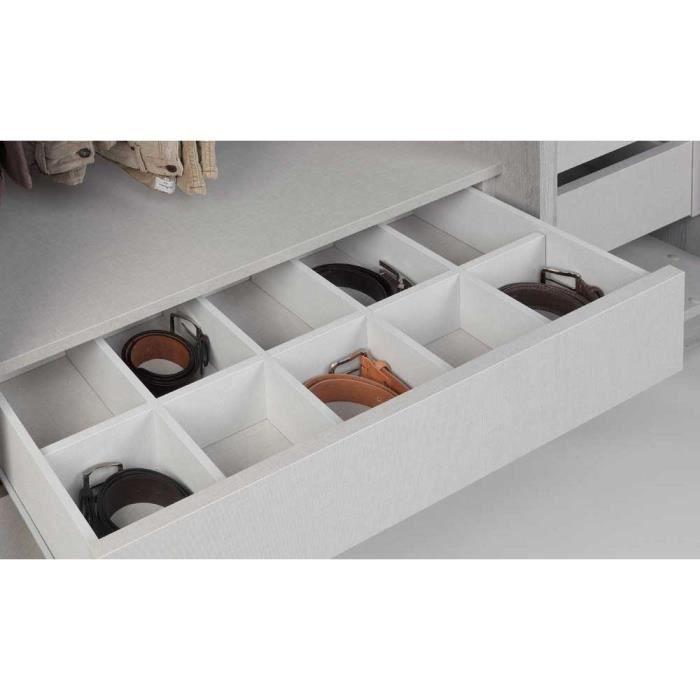 casier pour meuble compartiment tiroir solano l 90 x h 8 x p 40 cm - Organisateur De Tiroir