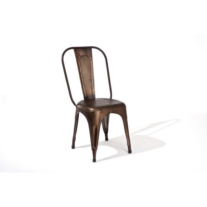lot de 4 chaises industrielles achat vente lot de 4. Black Bedroom Furniture Sets. Home Design Ideas