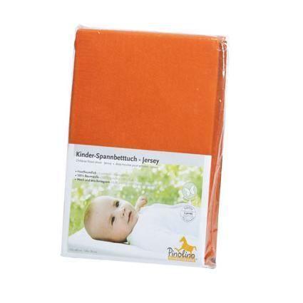 Drap housse orange pour lit b b 120 60 ou 140 70 orange - Drap housse 60x140 pour bebe ...