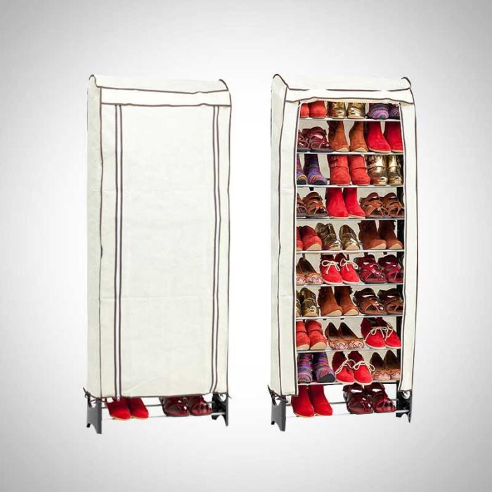Housse pour range chaussures modulable shoeseasy achat for Housse a chaussures