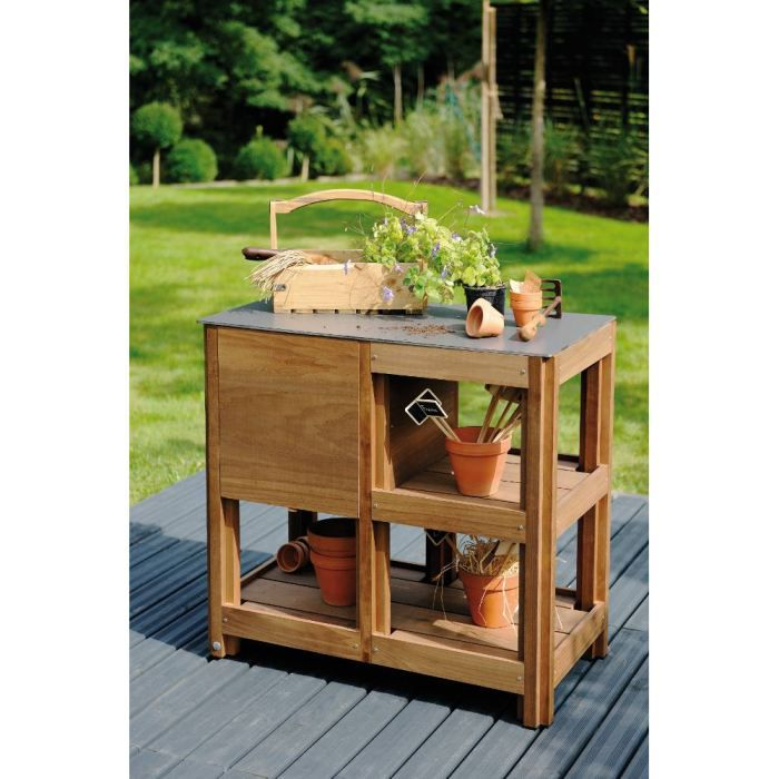 Table de jardinage multifonctions byo en h tre achat - Table de jardinage en hauteur ...