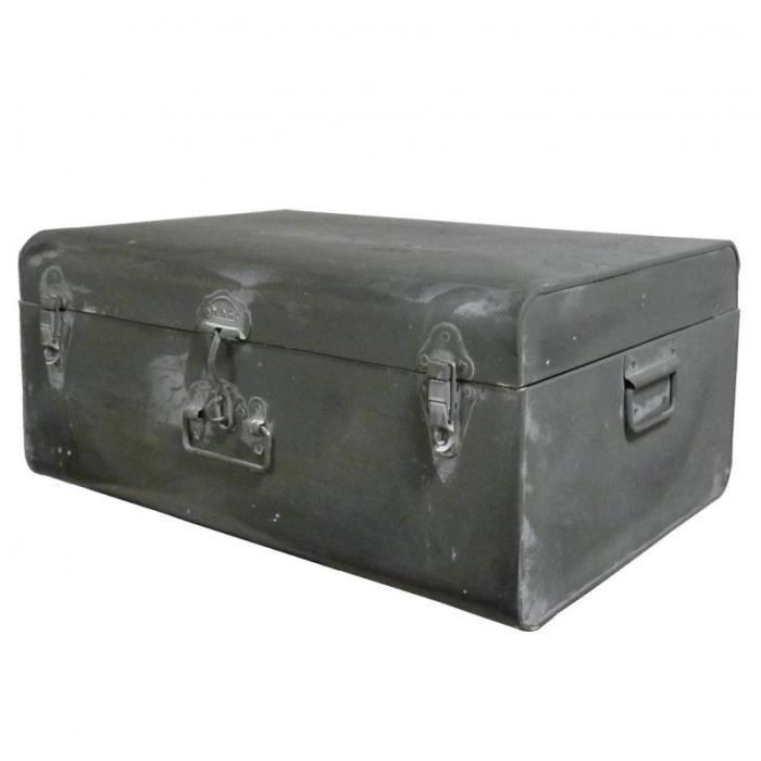 cantine de rangement malle jouets coffre en zinc style. Black Bedroom Furniture Sets. Home Design Ideas