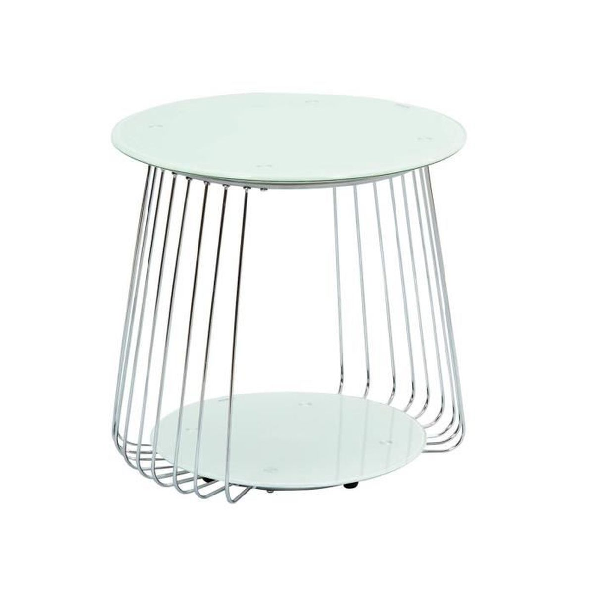 Salma 50 table basse blanche achat vente table basse salma 50 table b - Table basse blanche cdiscount ...