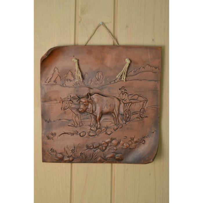 Tableau en terre cuite original fait main achat vente - Objet decoratif original ...