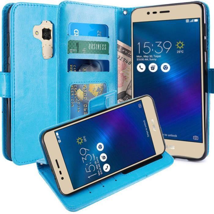 Zenfone 3 max housse coque etui de luxe portefeuille porte for Housse asus zenfone 3 max