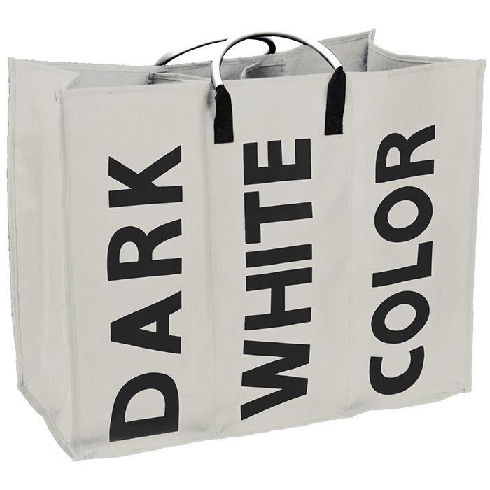 Panier linge blanc perle 60cm coffre linge de pictures to - Panier a linge 2 compartiments ...