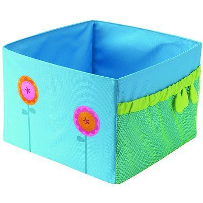 bac de rangement pliable fleur bleue achat vente coffre jouets bac de rangement pliable. Black Bedroom Furniture Sets. Home Design Ideas