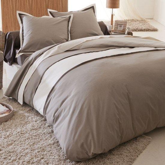 housse de couette et 1 taie d 39 oreiller eden beige achat vente parure de couette cdiscount. Black Bedroom Furniture Sets. Home Design Ideas