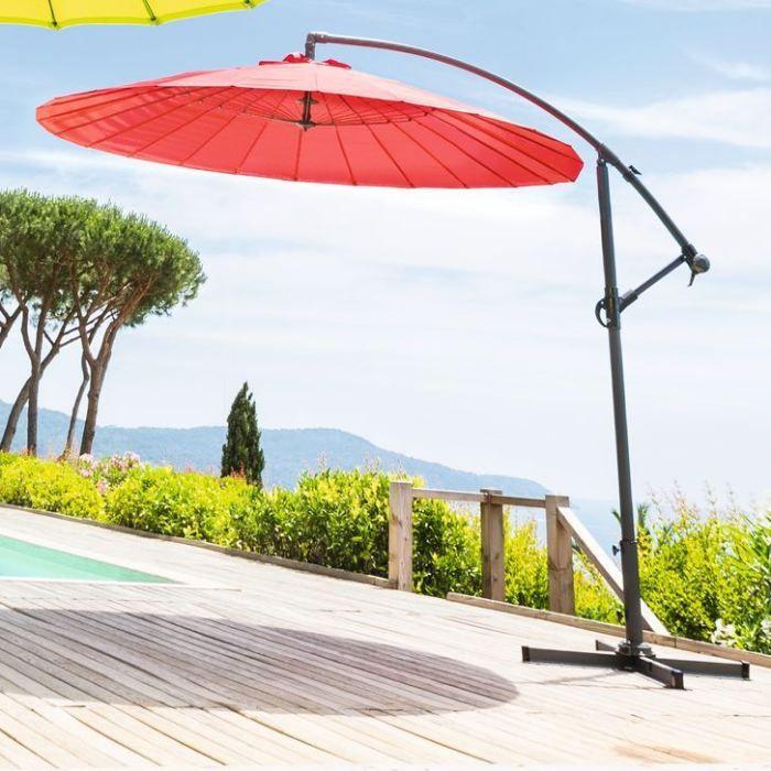 parasol decentre boyeros rouge achat vente parasol parasol decentre boyeros rouge cdiscount. Black Bedroom Furniture Sets. Home Design Ideas