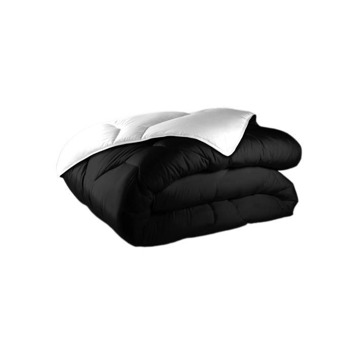Couette r versible noir et blanc 220x240 achat vente couette cdiscount - Couette legere 220x240 ...