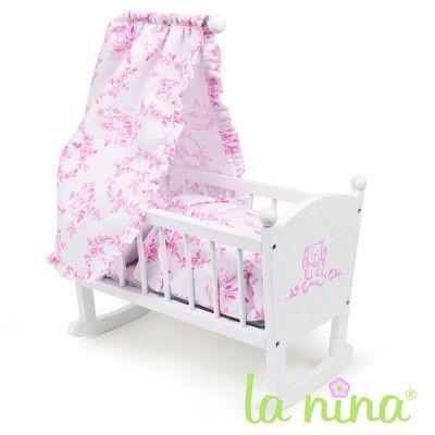 berceau avec ciel de lit pour poup e anita 22 cm achat vente nurserie poussette. Black Bedroom Furniture Sets. Home Design Ideas