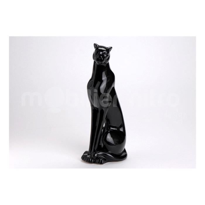 statue design panth re noire achat vente statue. Black Bedroom Furniture Sets. Home Design Ideas