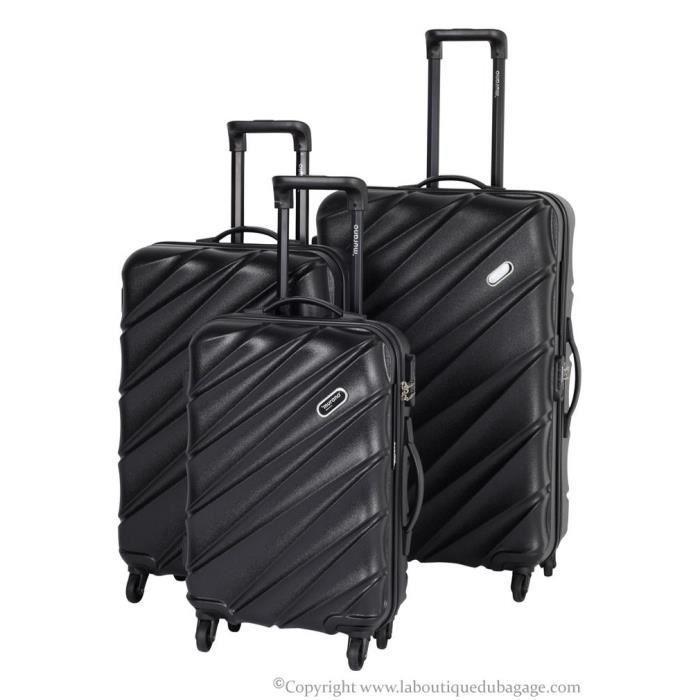 murano set de 3 valises rigides asb noir achat vente set de valises murano set de 3 valises. Black Bedroom Furniture Sets. Home Design Ideas