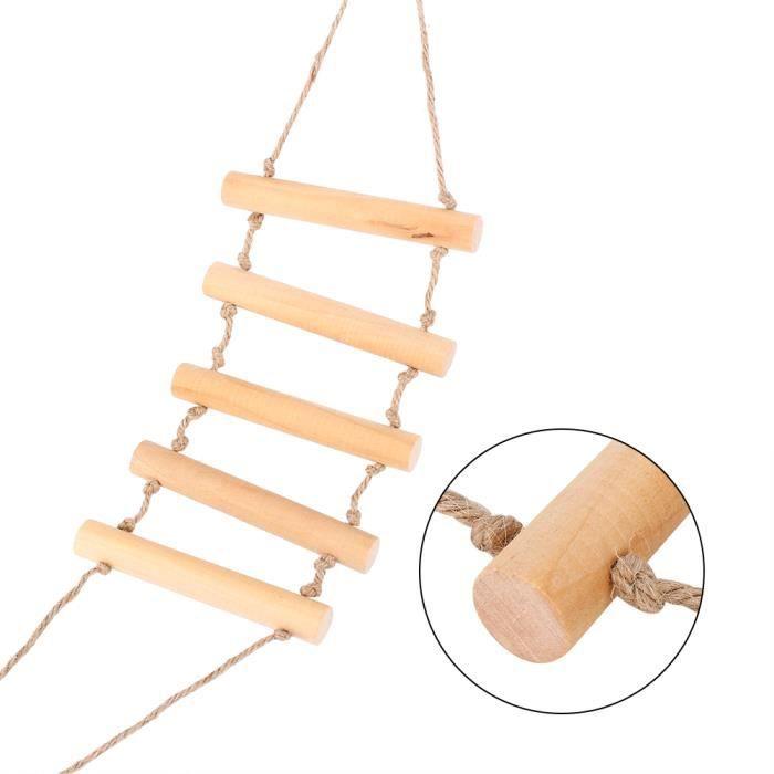 jouet pour perroquet oiseau de compagnie chelle bois mont e pont balan oire accessoire achat. Black Bedroom Furniture Sets. Home Design Ideas