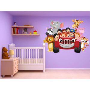 jungle stickers achat vente jungle stickers pas cher les soldes sur cdiscount cdiscount. Black Bedroom Furniture Sets. Home Design Ideas