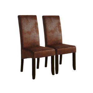 TABOURET Lot de 2 chaises Sagua -  47 x 62 x 108 cm - Marro