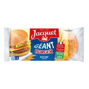 PAIN PRÉCUIT HAMBURGER Jacquet pains hamburger géant 330g