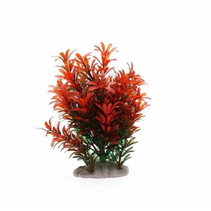 Plante artificielle fleur herbe aquatique plastique rouge for Deco plante artificielle
