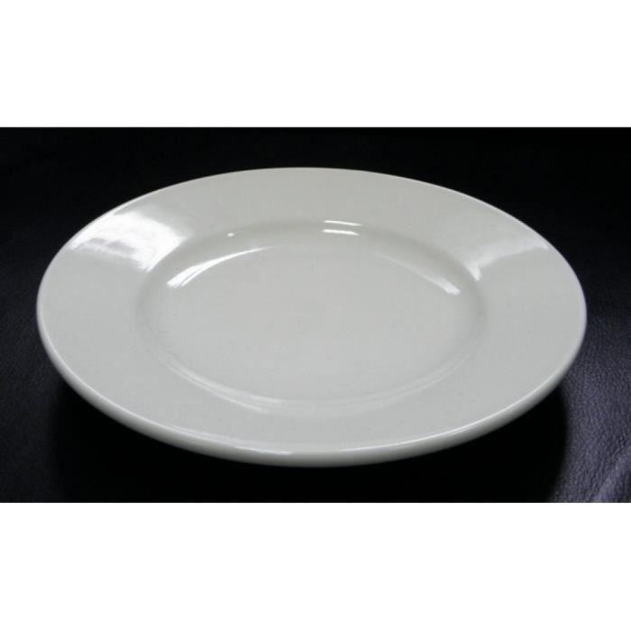 assiettes en ceramique blanche lot de 12pieces achat vente assiette soldes cdiscount. Black Bedroom Furniture Sets. Home Design Ideas