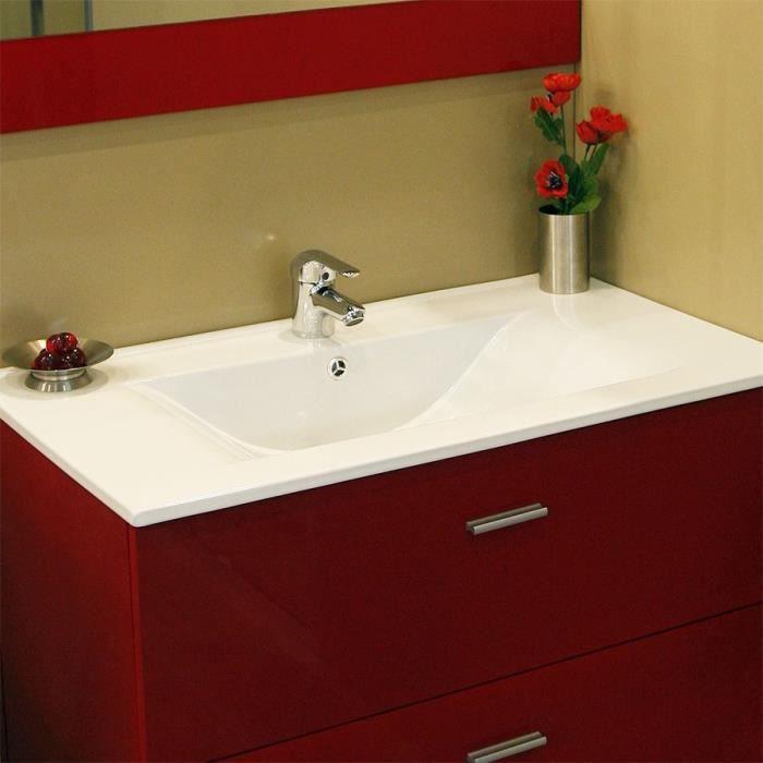 Plan simple vasque c ramique c raplan 60 cm achat vente lavabo vasque plan simple vasque - Vasque a poser occasion ...