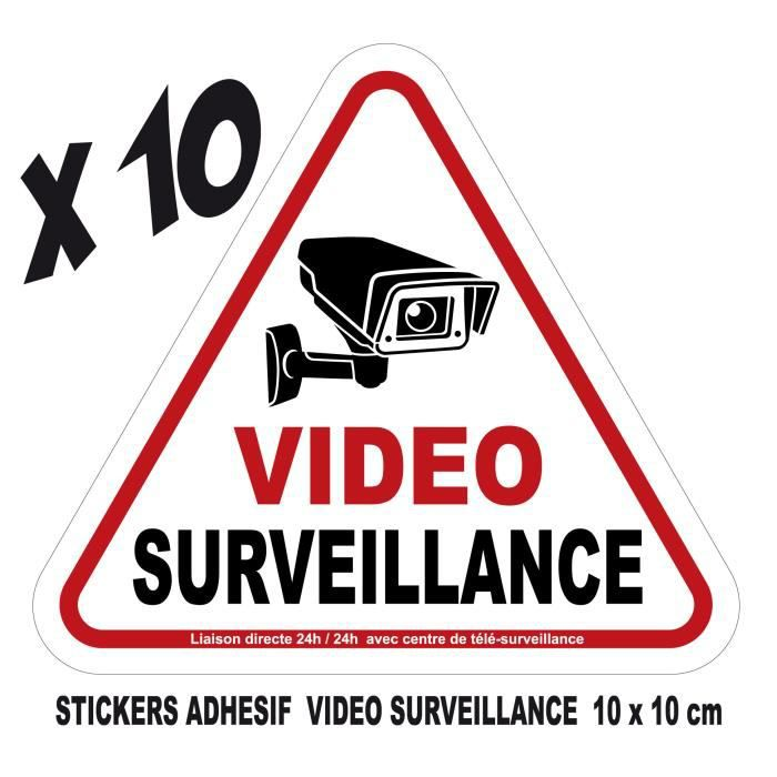 adhesif stickers vid osurveillance video surveillance. Black Bedroom Furniture Sets. Home Design Ideas