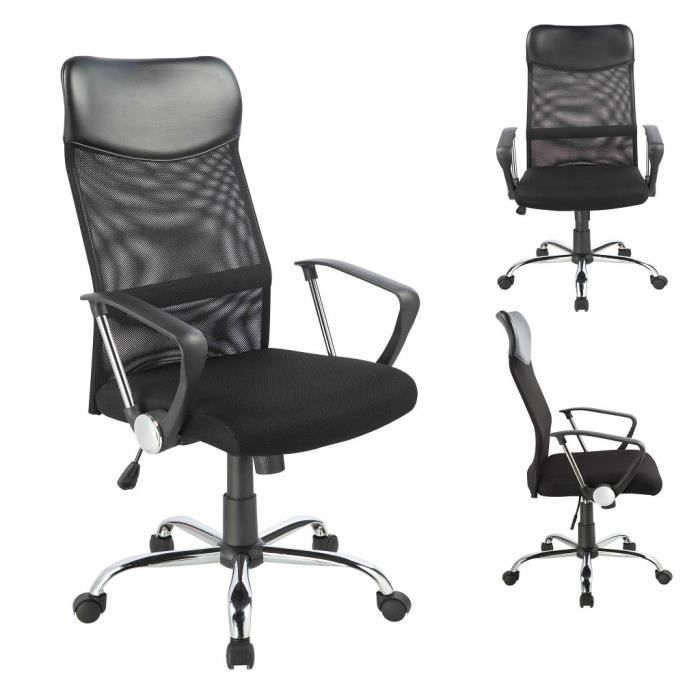 chaise fauteuil si ge de bureau hauteur r glable achat. Black Bedroom Furniture Sets. Home Design Ideas