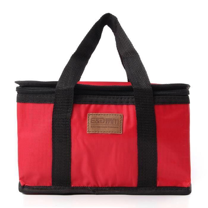 sac go ter isotherme glaci re repas pique nique d jeuner voyage rouge achat vente sac. Black Bedroom Furniture Sets. Home Design Ideas