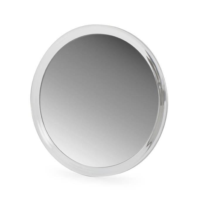 Miroir bain zoom 7x ventouse acrylique achat vente for Miroir ventouse